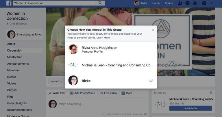 groupe facebook gestion réseaux sociaux