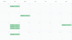 exemple d'un calendrier sur AgoraPulse