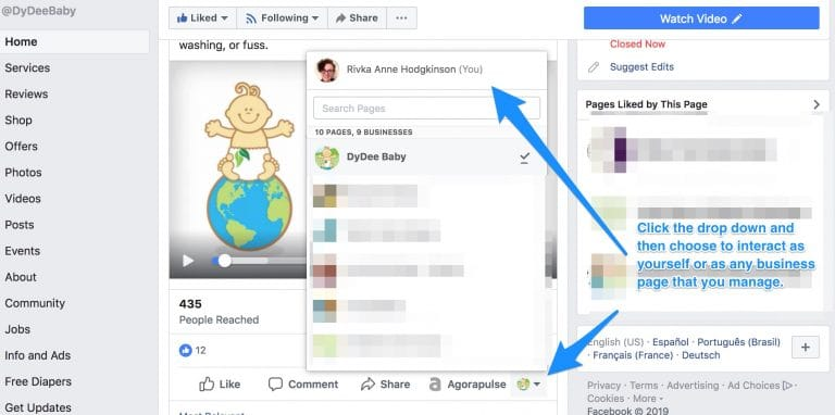 page facebook outil réseaux sociaux