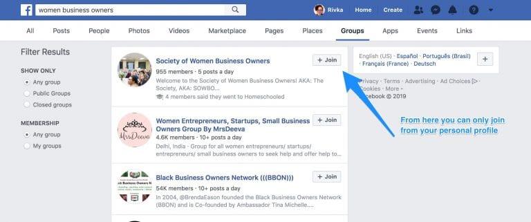 groupe facebook gestion social media