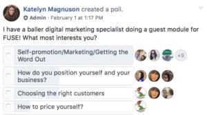 exemple sur Facebook pour inciter aux interactions