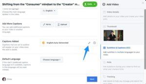 Etape 5 pour ajouter des sous-titres aux vidéos Facebook
