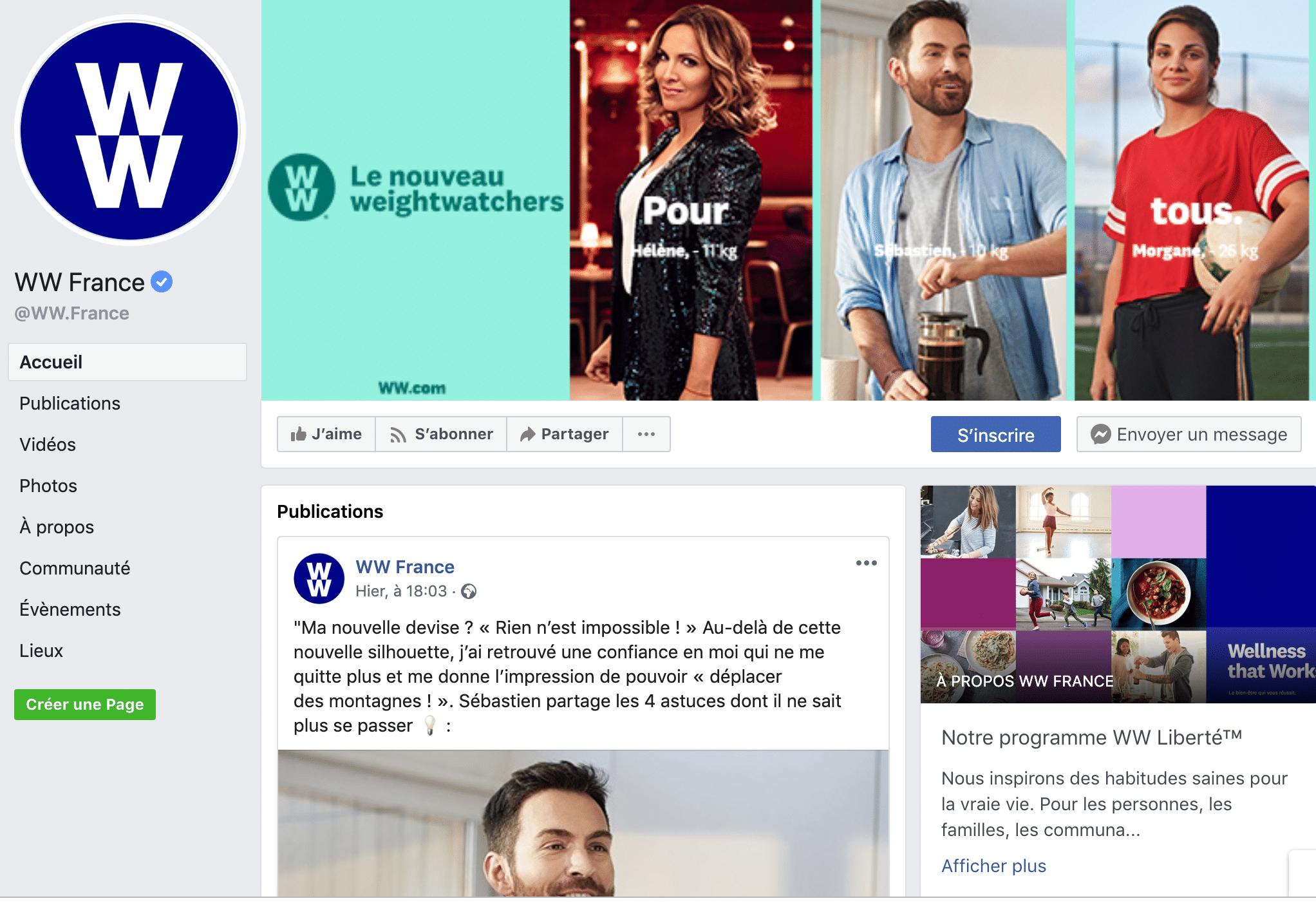 page facebook agorapulse