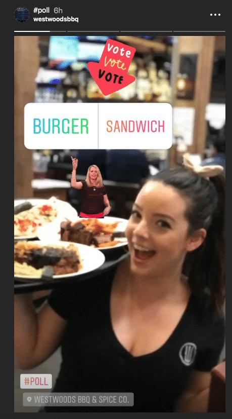 stories instagram sticker sondage