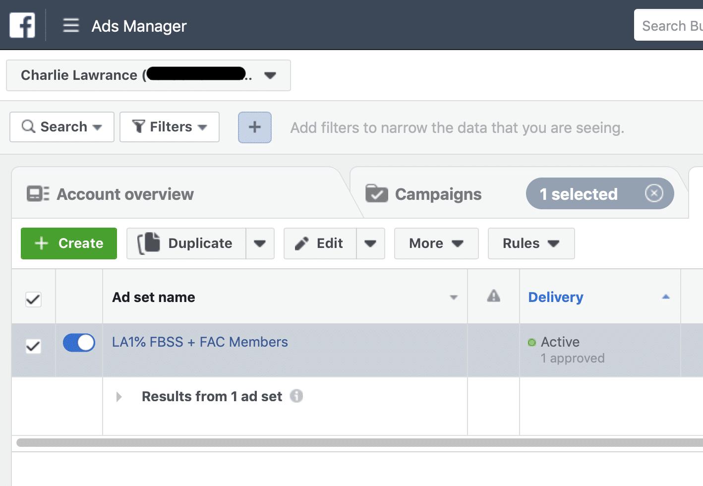 dupliquer ensemble de publicités Facebook
