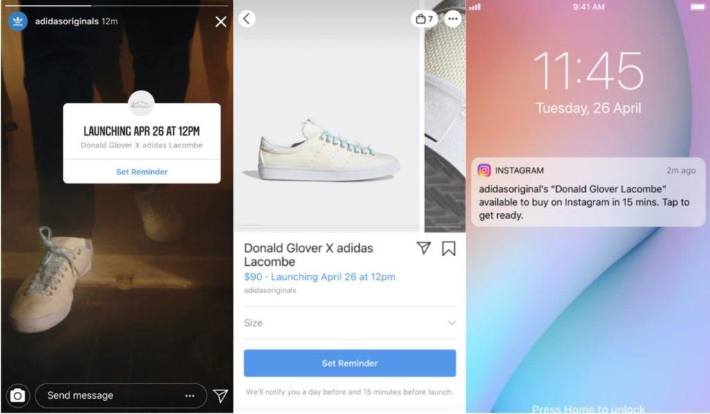 Instagram teste un sticker pour le lancement de produits