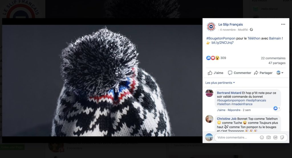photo de couverture du Slip Français sur Facebook