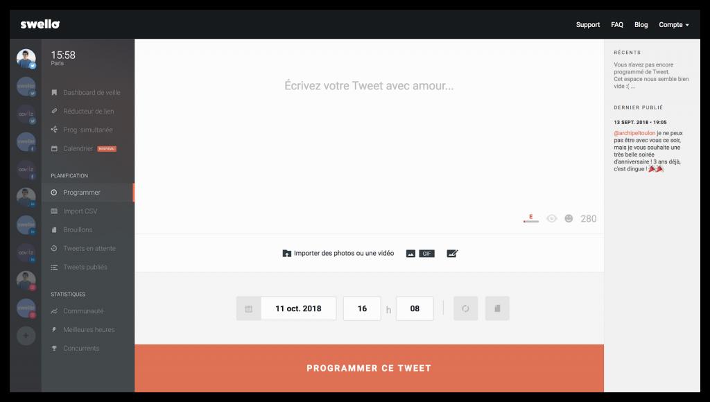 swello, une alternative à tweetdeck