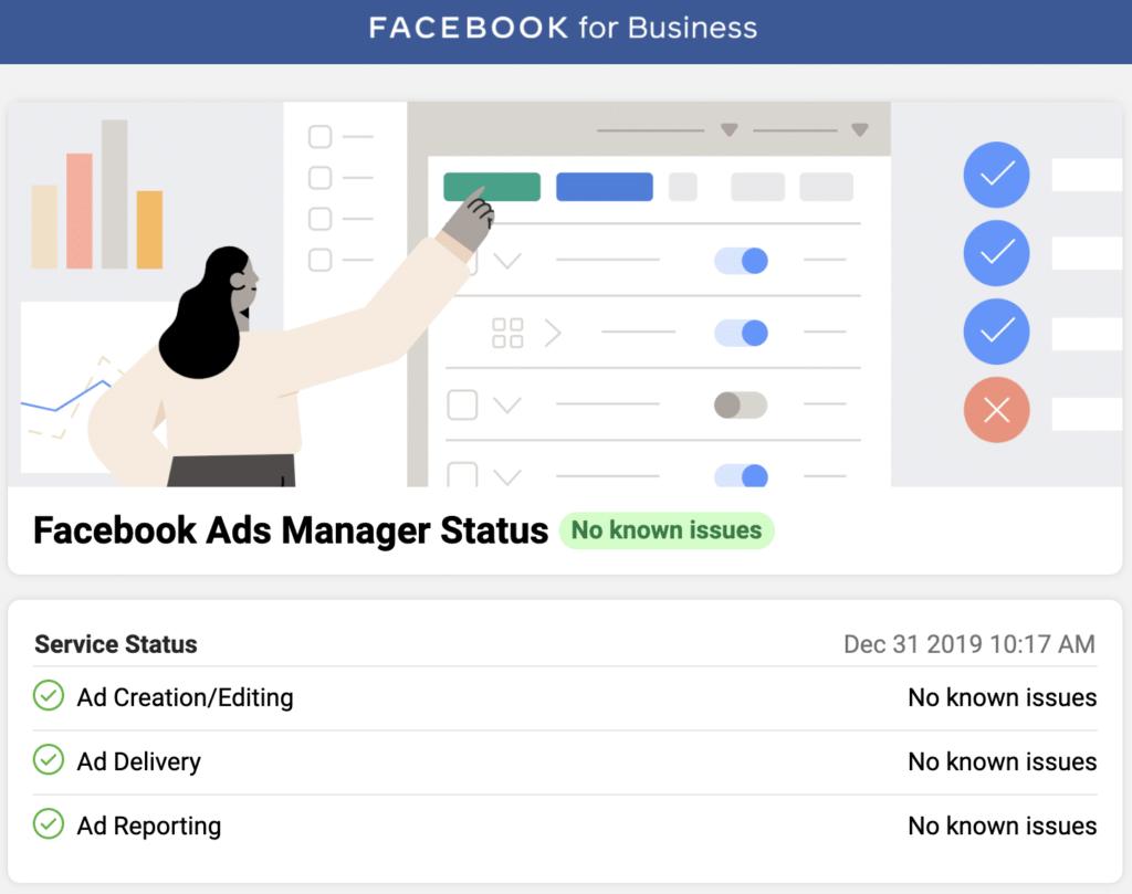 what's up social, facebook créé une page statut pour business manager