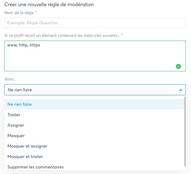 moderation automatique hootsuite