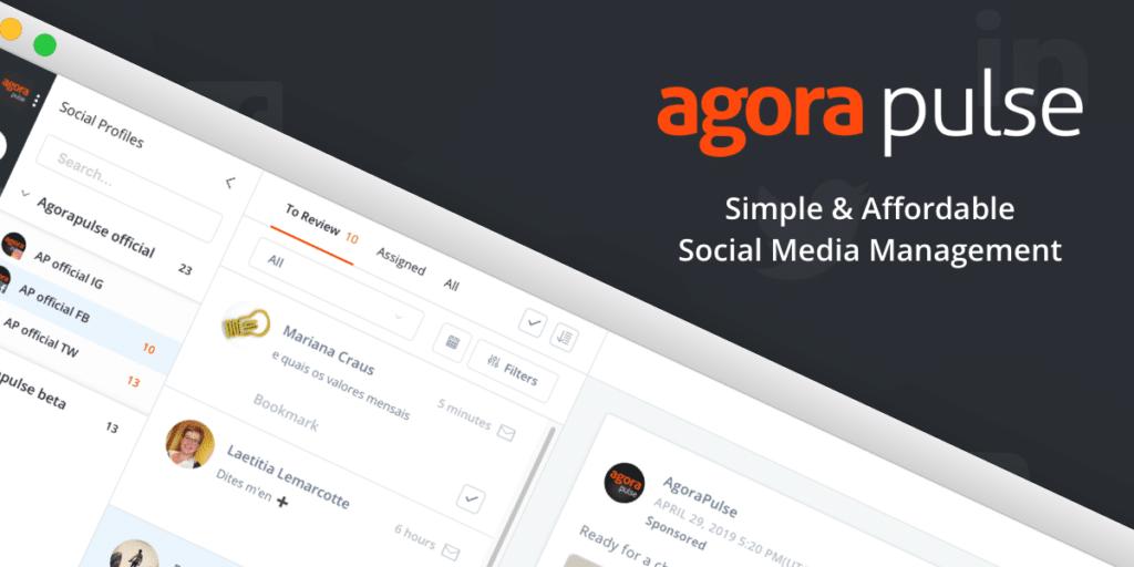 agorapulse, l'outil de gestion de réseaux sociaux pour les community managers freelance