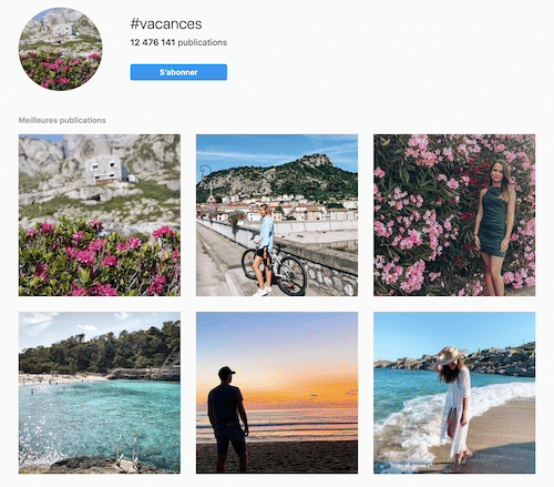 vacances instagram