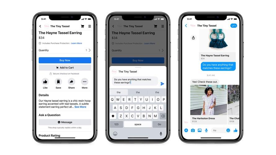 facebook et instagram shop sont lancés : exemple de paiement