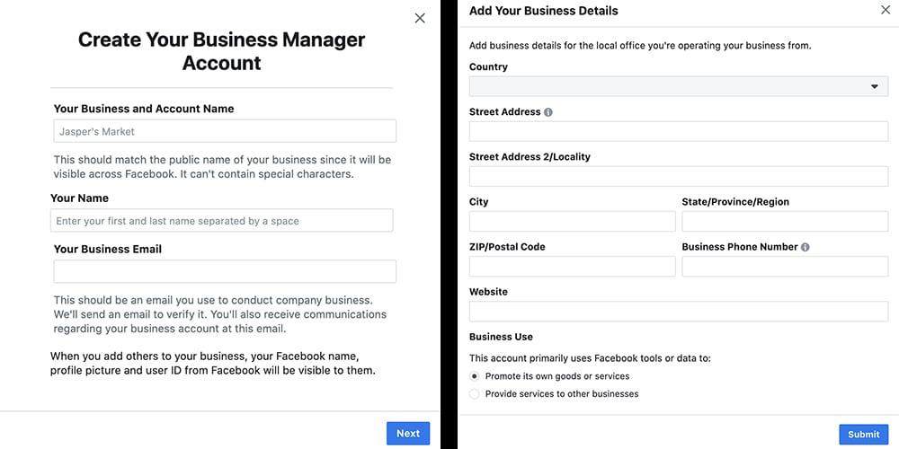 ajouter un compte dans le business manager