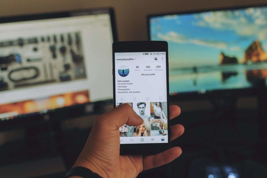 compte Instagram sur un smartphone