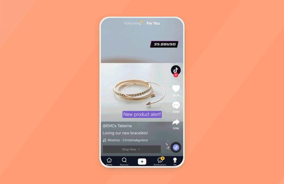 le partenariat entre tiktok et shopify permet aux utilisateurs de finaliser une commande