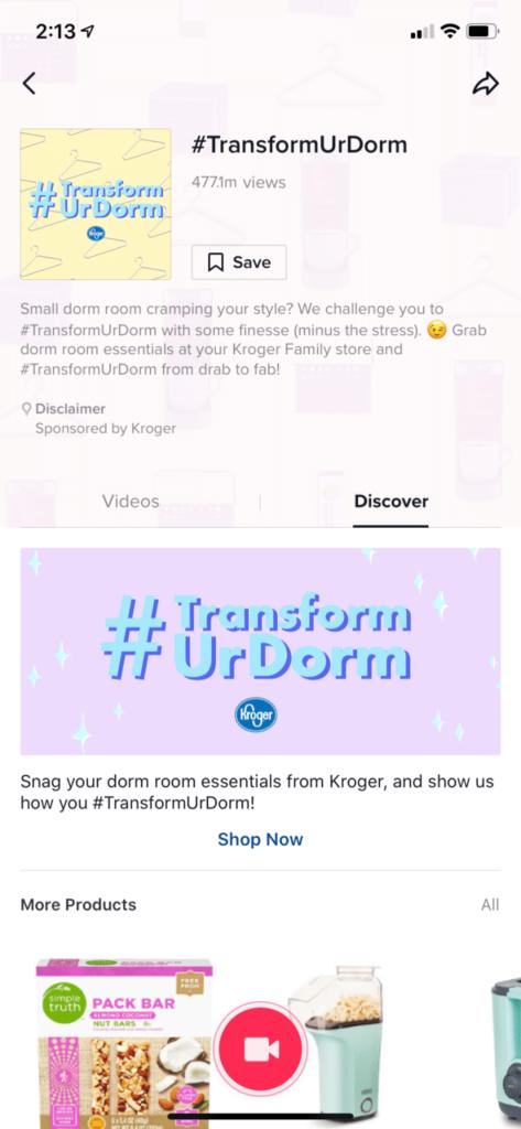 exemple de Hashtag Challenge Plus