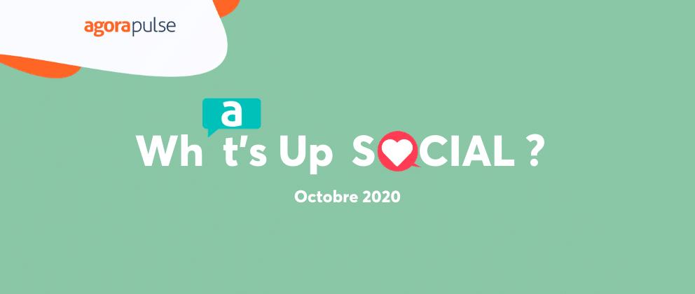 what's up social, le recap de l'actualité social media - octobre 2020