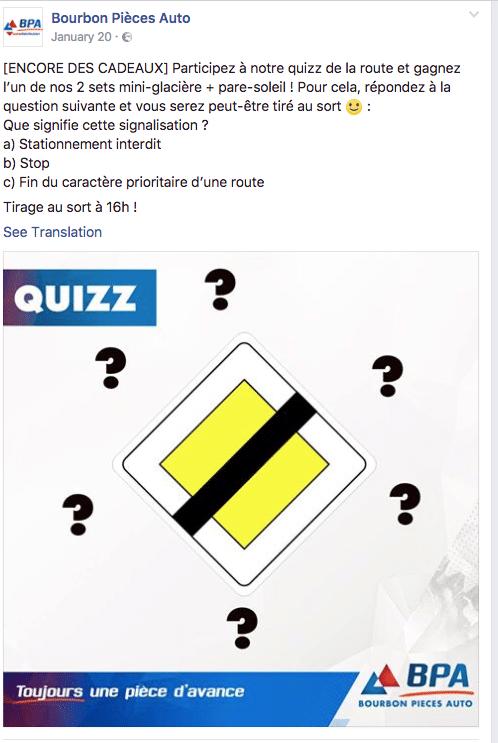 quizz facebook