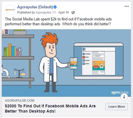 publicités boostées FB