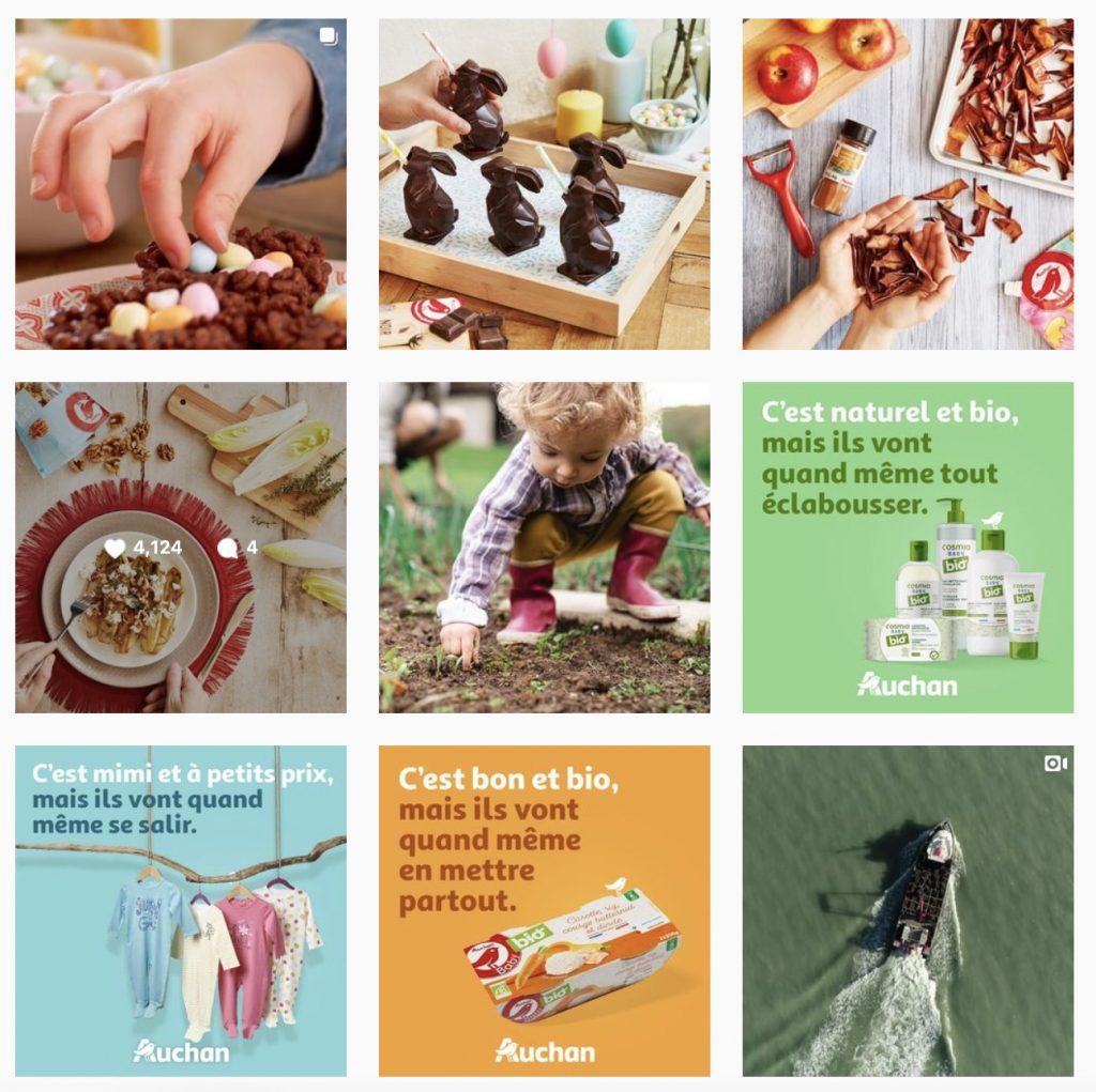 compte Instagram d'Auchan