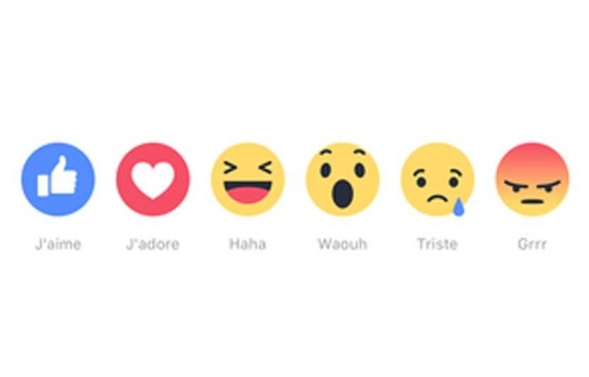 reactions sur Facebook
