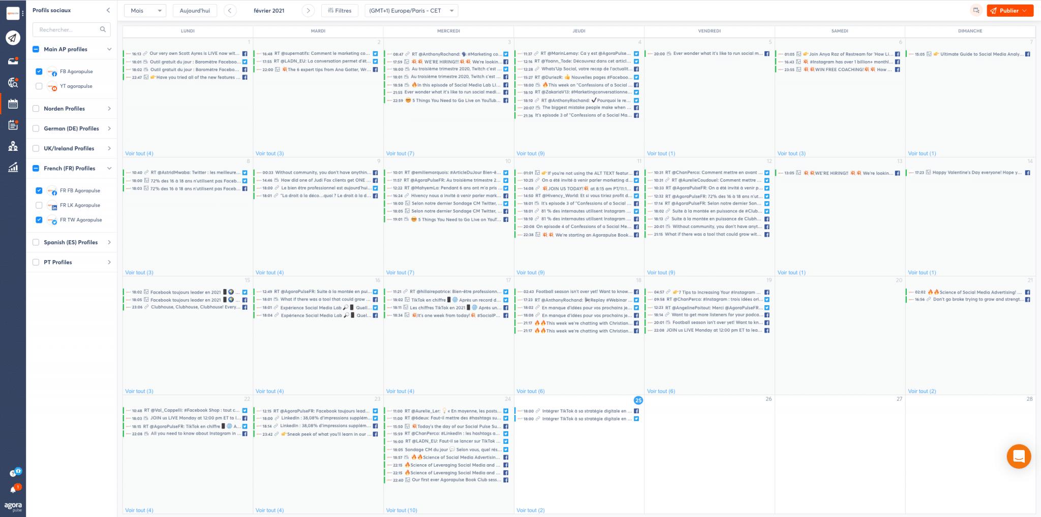 calendrier de publication facebook