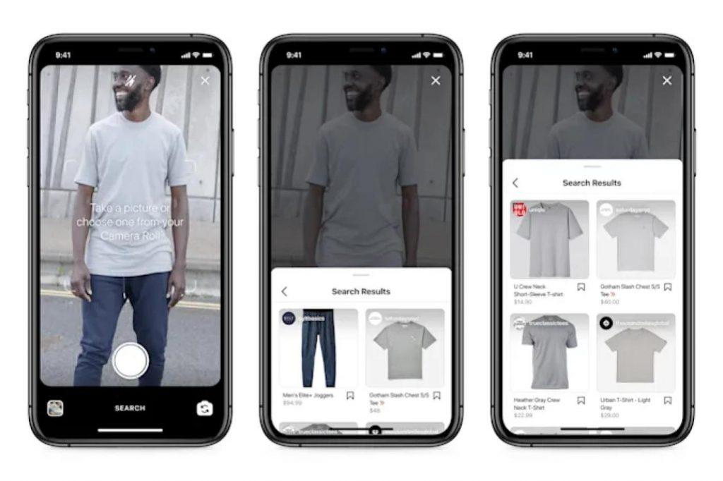 exemple de recherche visuelle sur instagram shopping