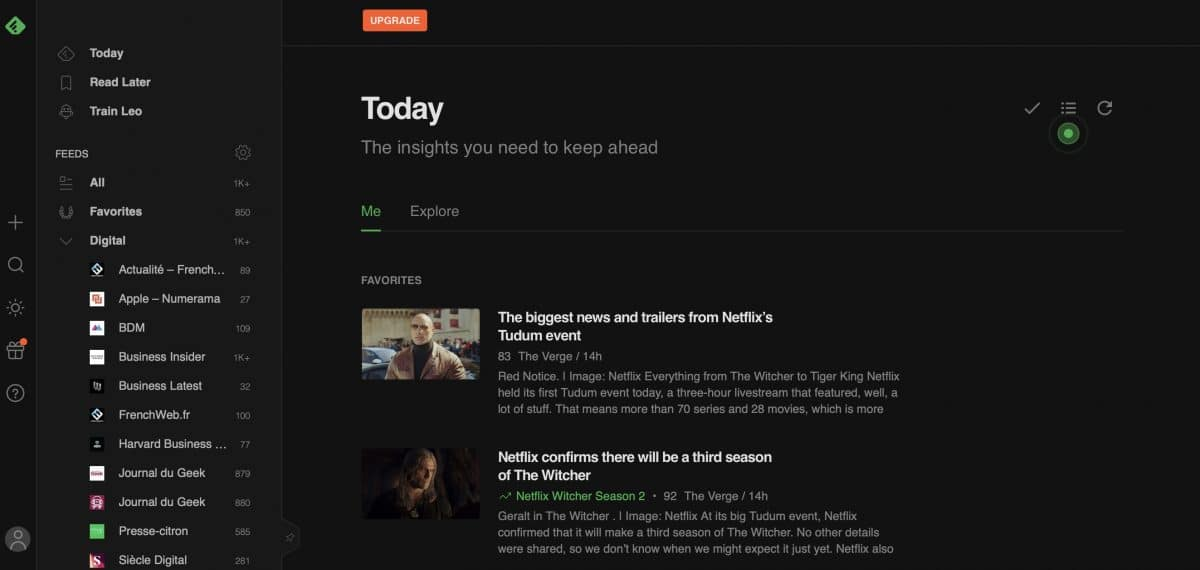 exemple feedly