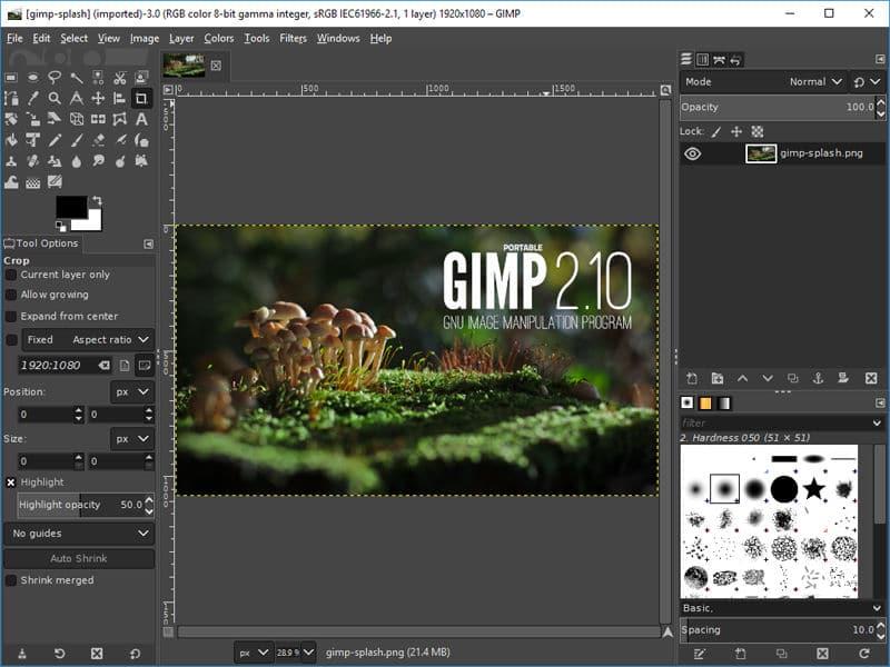 aperçu de l'outil GIMP