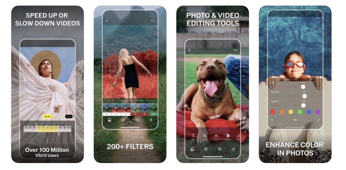 screenshot de l'application VSCO