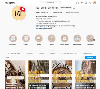 igtv page web