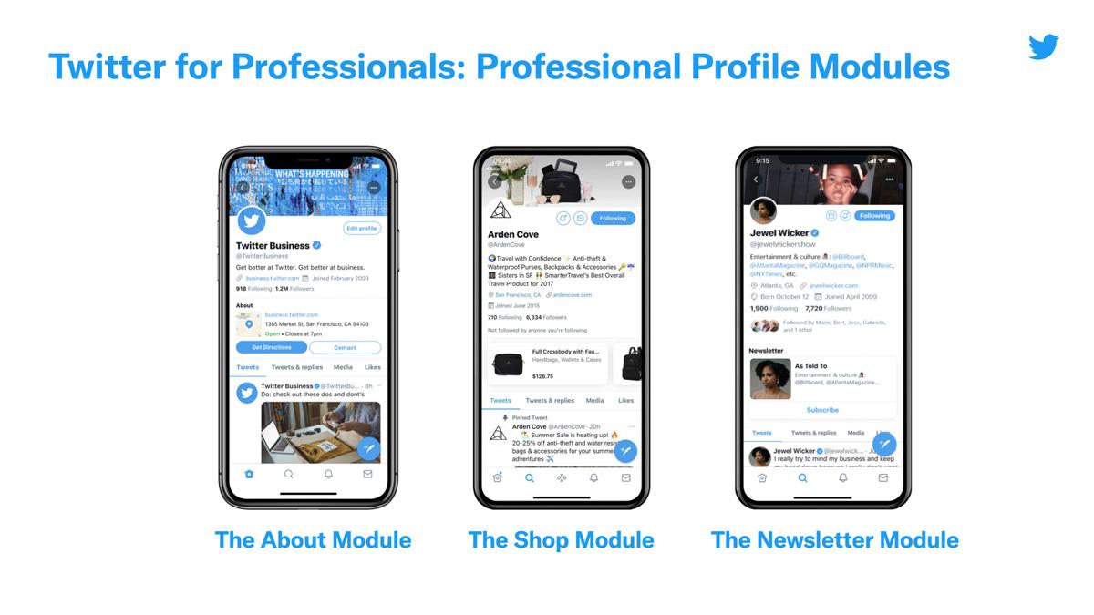 les comptes pro permettent aux créateurs et aux entreprises d'accéder à plus d'options