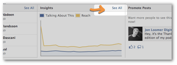 Access the Facebook Insights