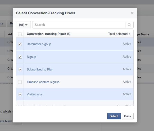 Facebook Power Editor Conversion Tracking