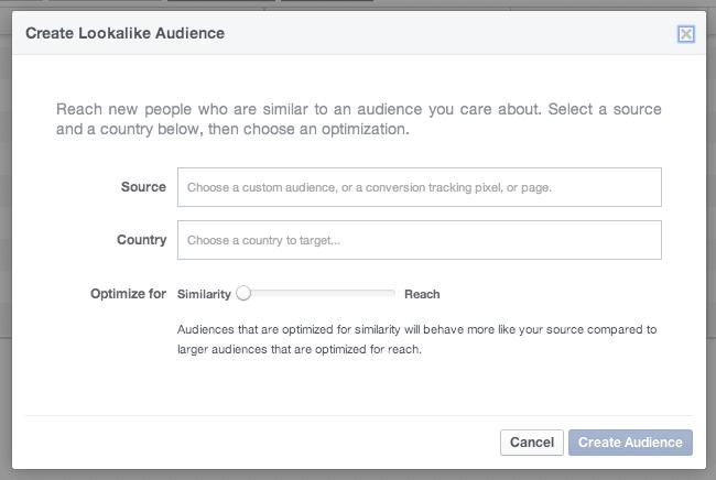 Facebook Power Editor LookAlike Audience