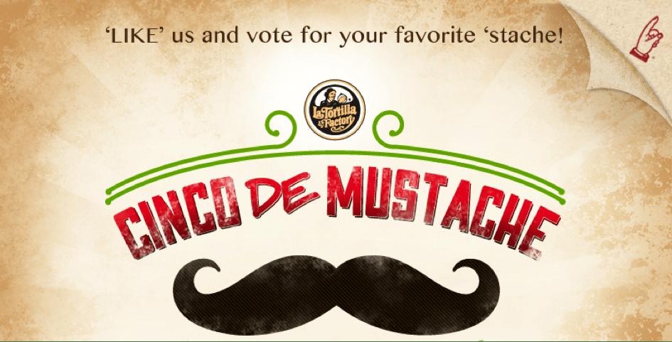 Exemplo campanha Votação facebook mustache