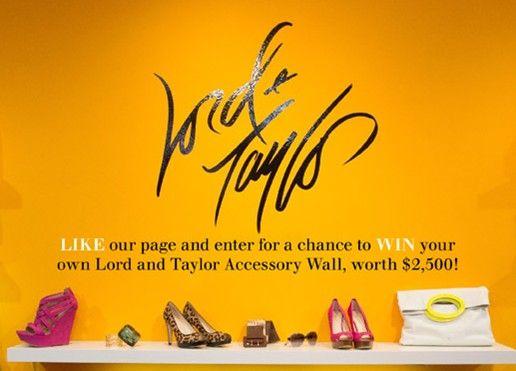 Lord&Taylor, um retalhista de Moda Feminina online, dá prémios a acessórios em seu website.