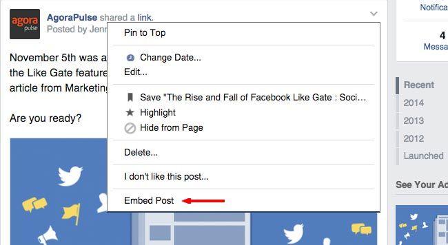 Incorpore seus posts do Facebook diretamente em seu site ou blog.