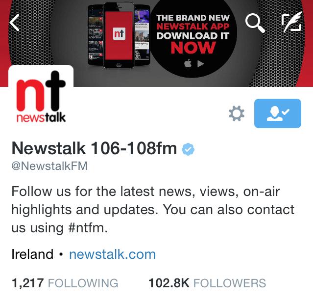 Newstalk nos mostra o que podemos esperar de seus tweets.