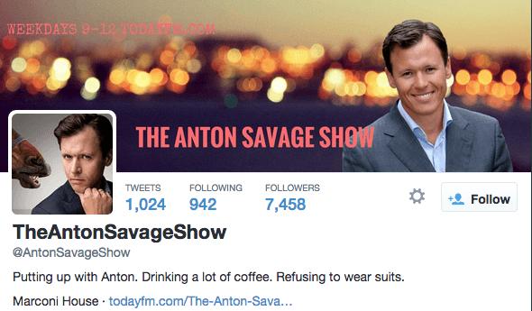 The Anton Savage show em uma brincadeira com seus ouvintes