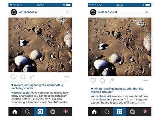 instagram caption lenght