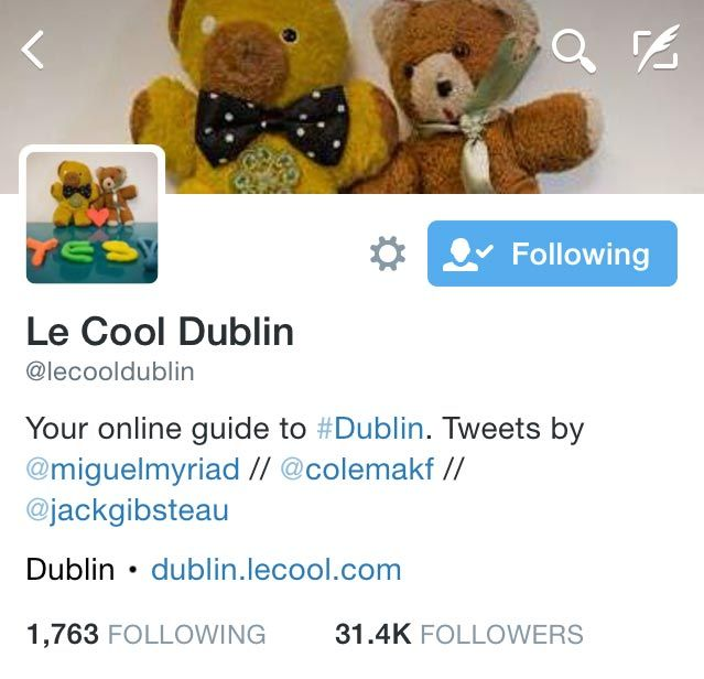 It's easy to find the tweeters from Le Cool Dublin