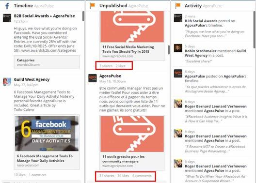 hootsuite unpublished posts