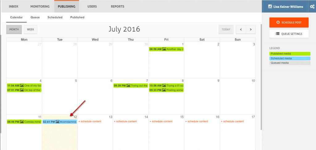 instagram publishing calendar