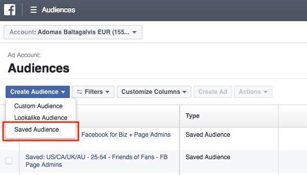 Criando Audiências no gerenciador de anúncios do Facebook
