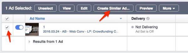 Duplique os seus anúncios do Facebook no Gestor de anúncios