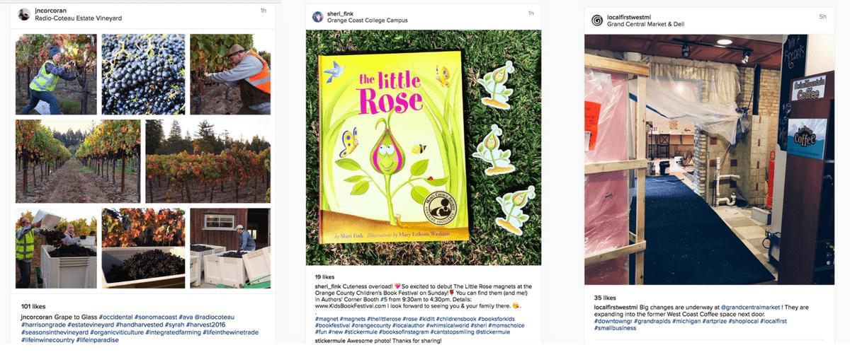 Use multiple hashtags on Instagram