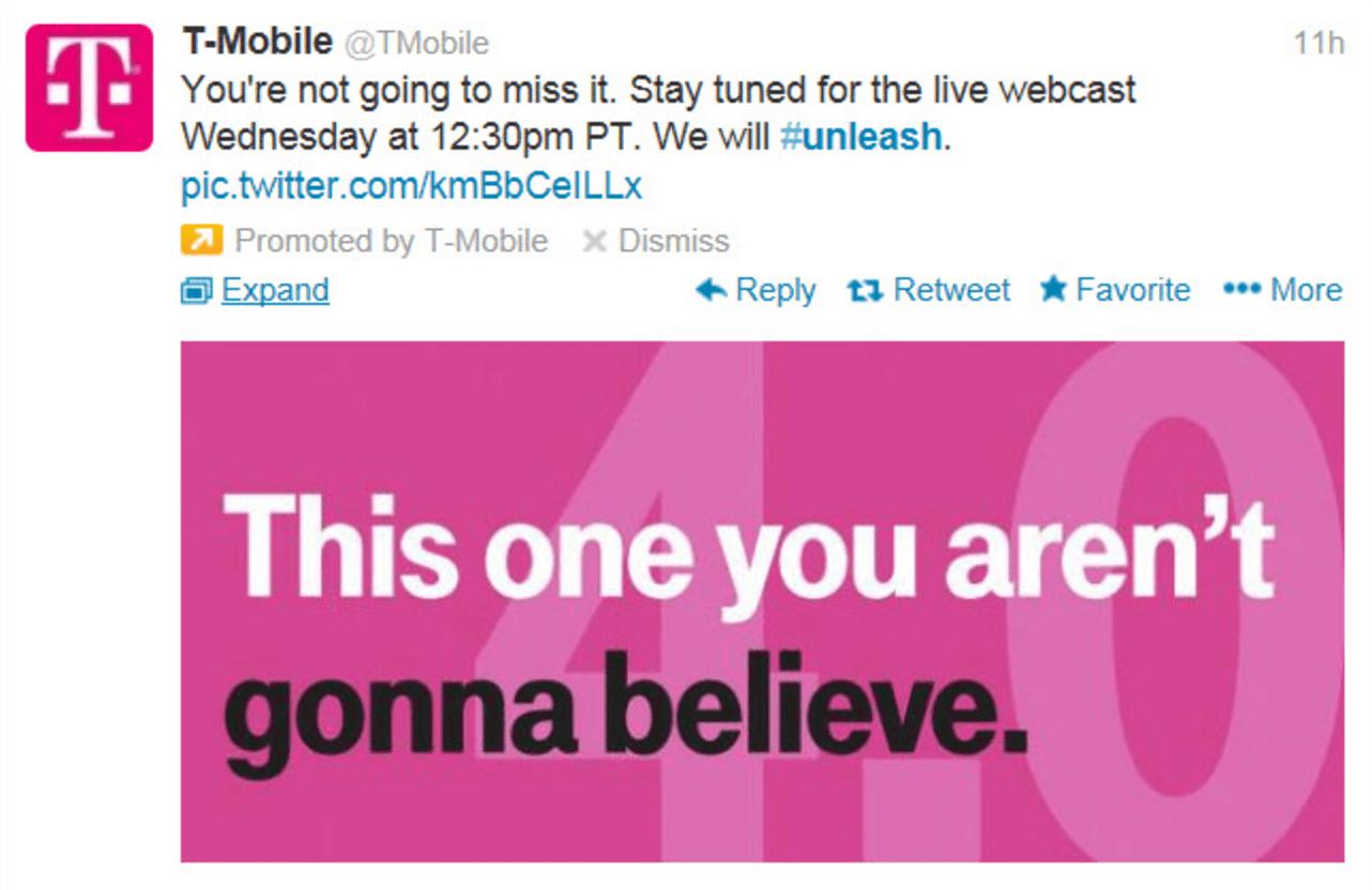 Tmobile promoted tweet