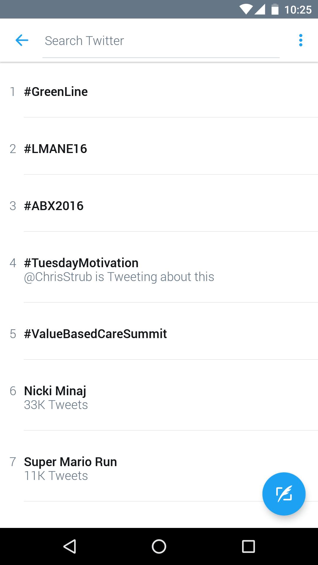 mobile twitter trending
